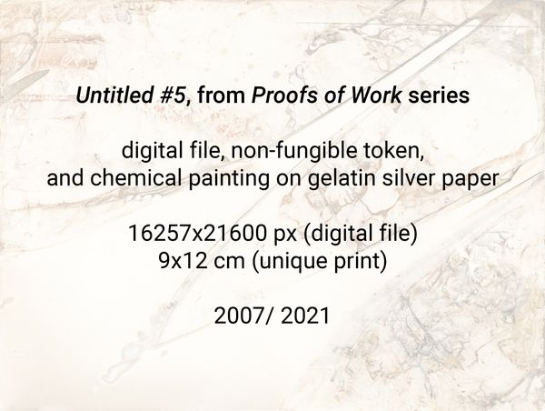 """""""Untitled #5"""", from """"Proofs of Work"""" series (2007/ 2021)"""